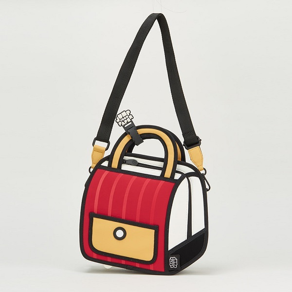 Outer Stripe Handbag [Red]