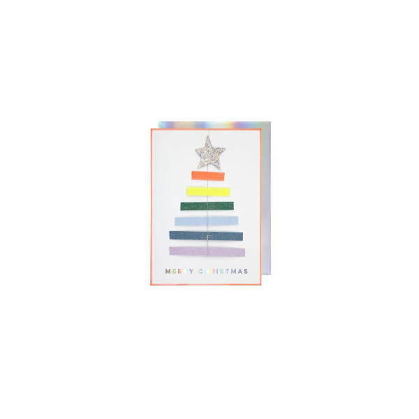 [메리메리] Rainbow Tree Ornament Card